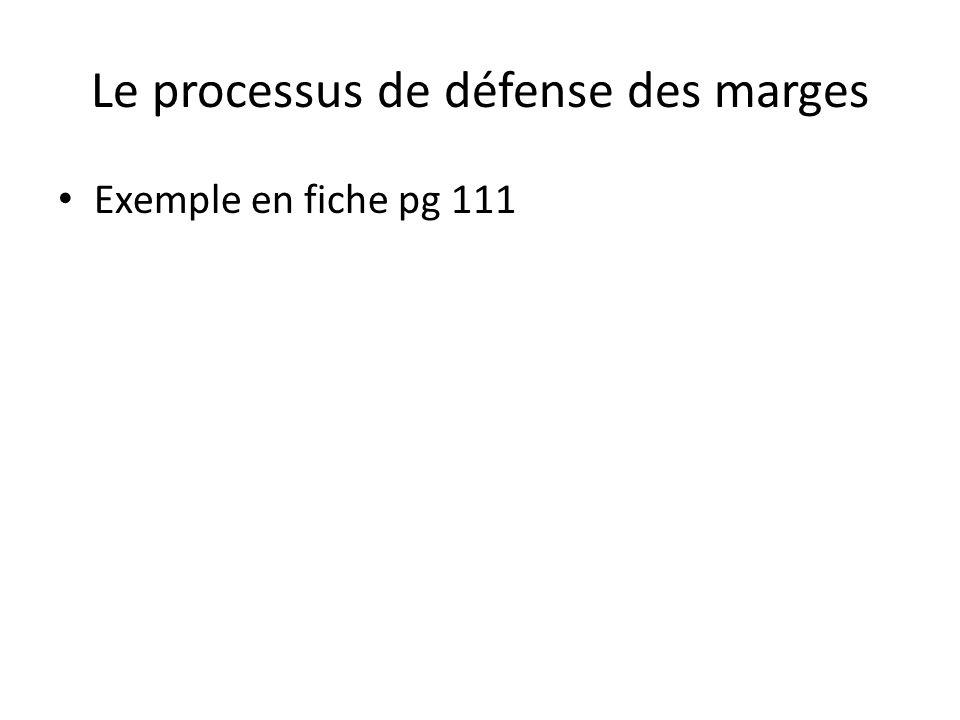 Le processus de défense des marges