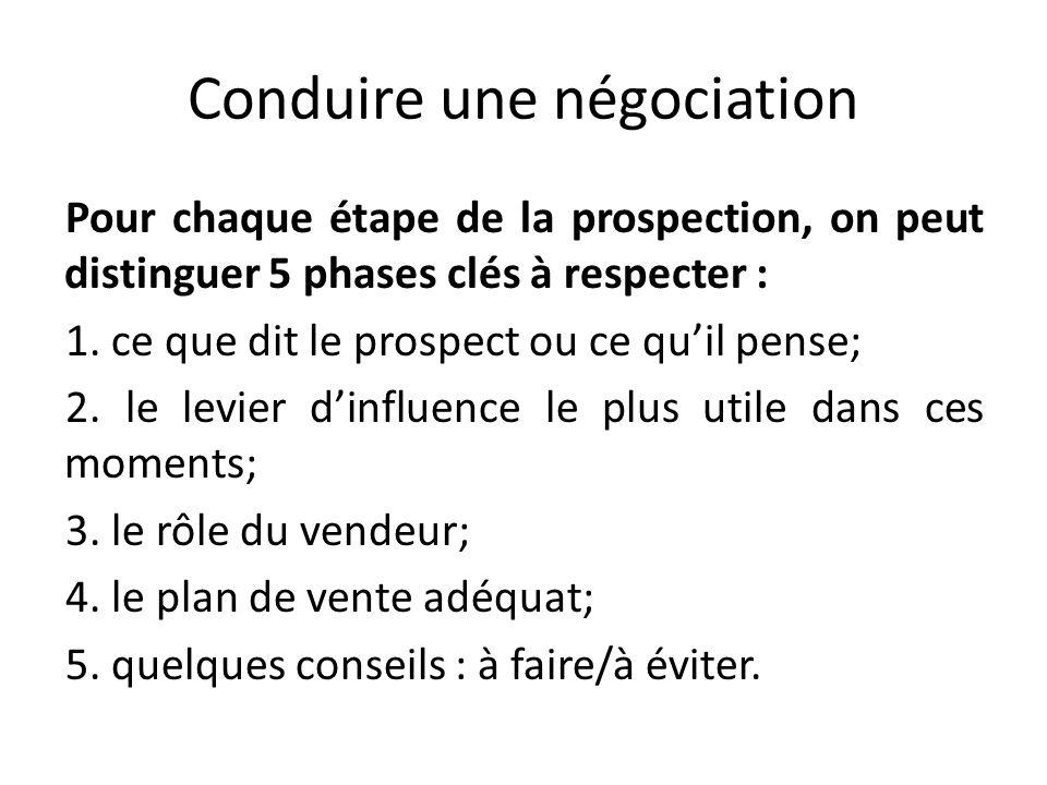 Conduire une négociation