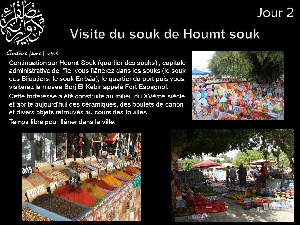 Visite du souk de Houmt souk