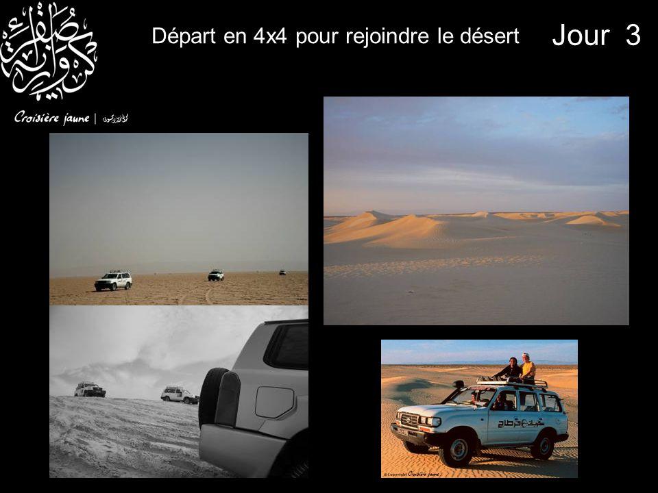 Départ en 4x4 pour rejoindre le désert