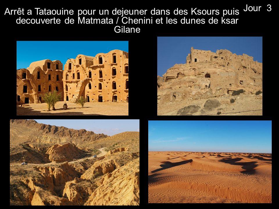Jour 3 Arrêt a Tataouine pour un dejeuner dans des Ksours puis decouverte de Matmata / Chenini et les dunes de ksar Gilane.