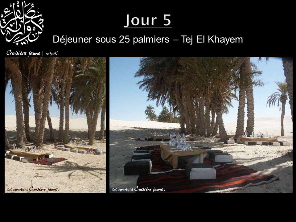 Déjeuner sous 25 palmiers – Tej El Khayem