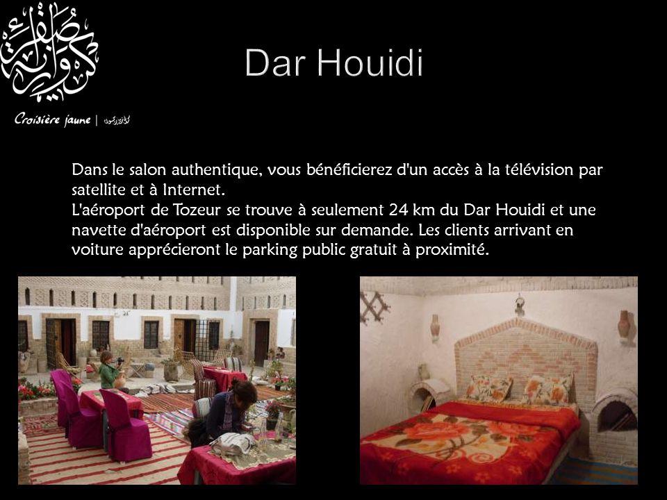 Dar Houidi Dans le salon authentique, vous bénéficierez d un accès à la télévision par satellite et à Internet.