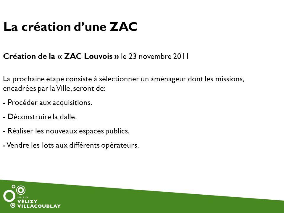 La création d'une ZAC