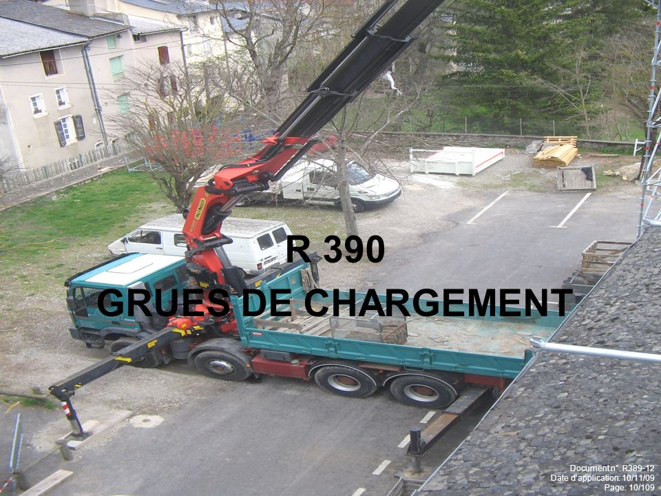 R 390 GRUES DE CHARGEMENT Document n°: R389-12