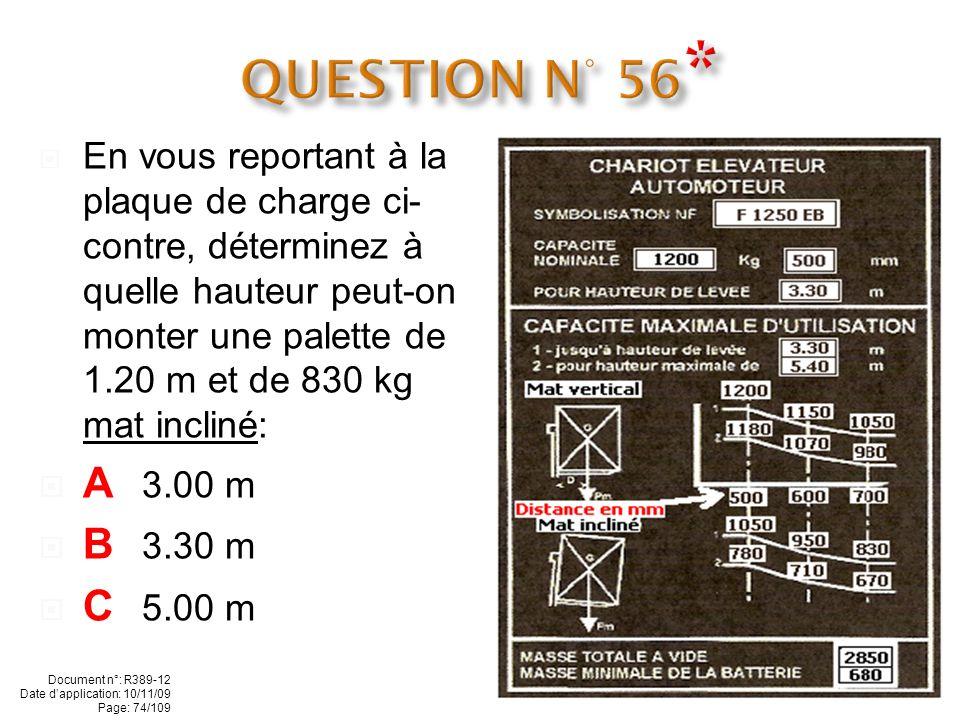 QUESTION N° 56*