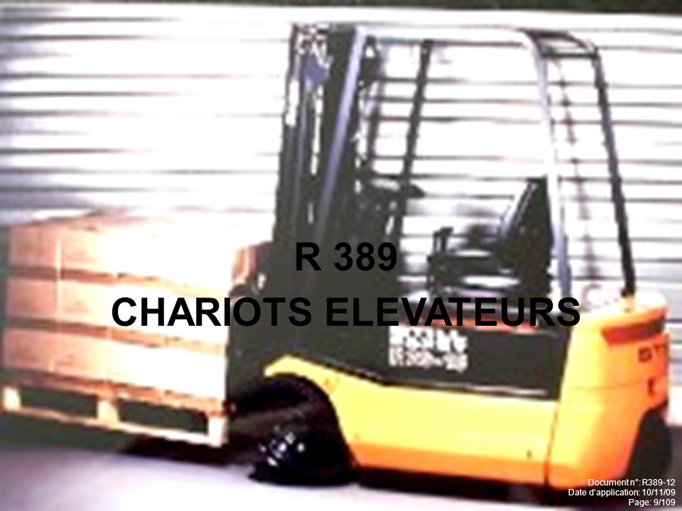R 389 CHARIOTS ELEVATEURS Document n°: R389-12