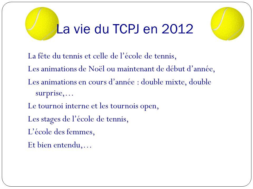 La vie du TCPJ en 2012