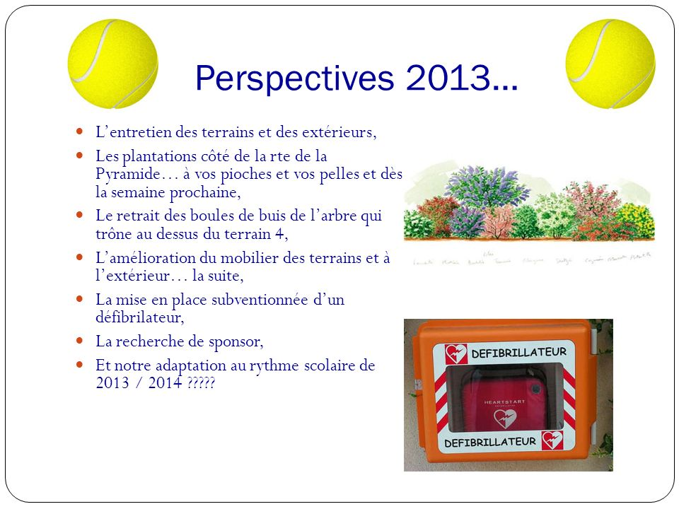Perspectives 2013… L'entretien des terrains et des extérieurs,