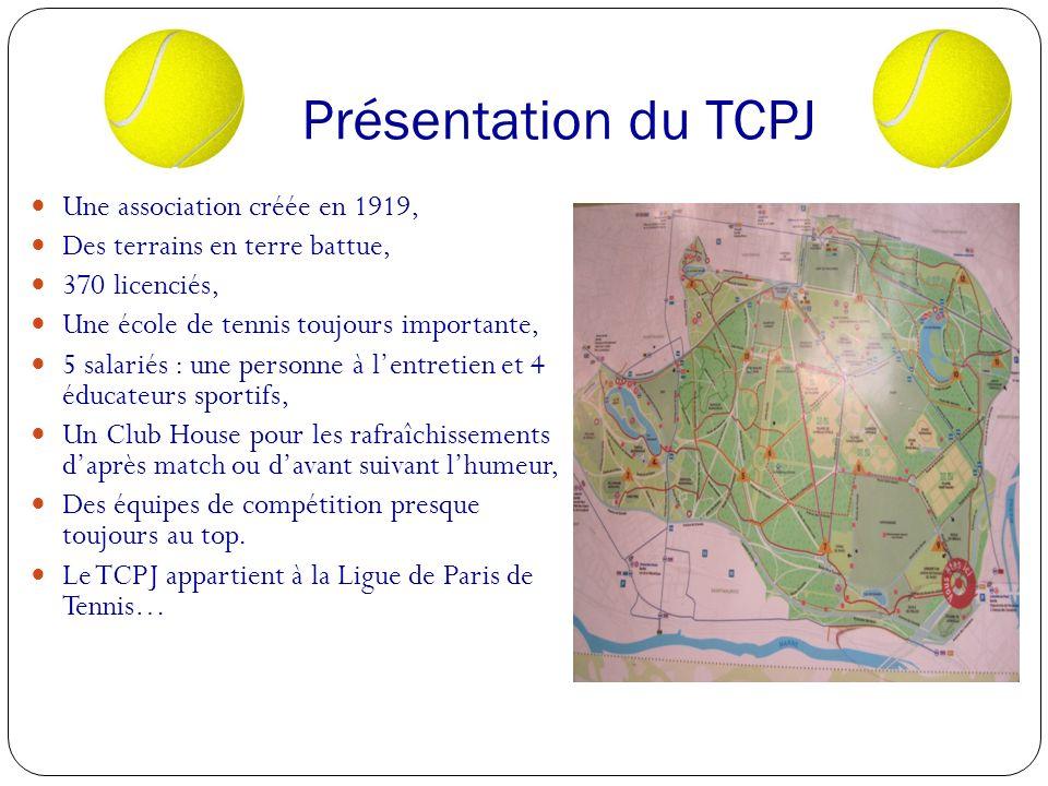 Présentation du TCPJ Une association créée en 1919,