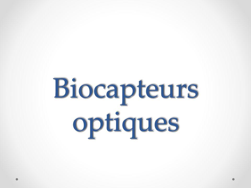 Biocapteurs optiques Alors dans ces quelque diapos j'ai essayé d'élaboré le thème de biocapteur a transducteur optique.