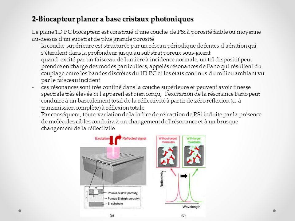 2-Biocapteur planer a base cristaux photoniques