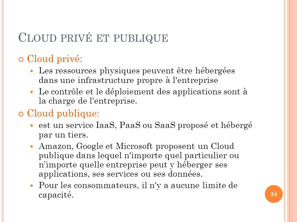 Cloud privé et publique