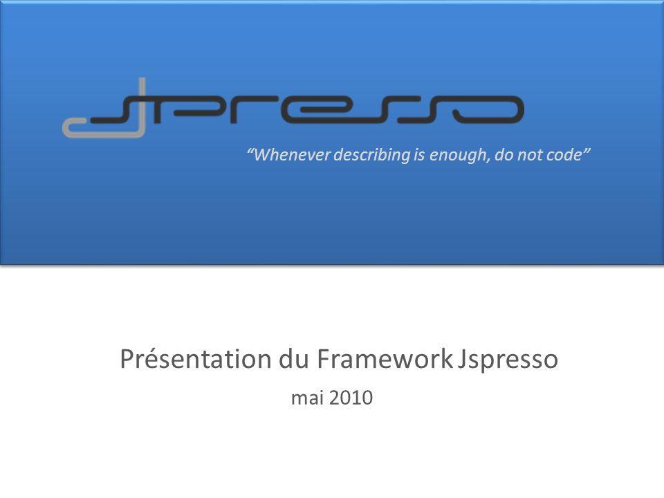 Présentation du Framework Jspresso