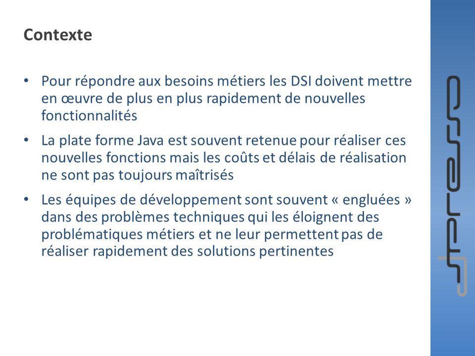 Contexte Pour répondre aux besoins métiers les DSI doivent mettre en œuvre de plus en plus rapidement de nouvelles fonctionnalités.