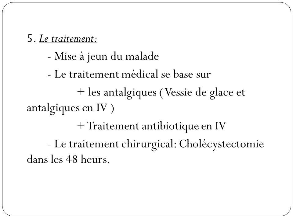 - Le traitement médical se base sur