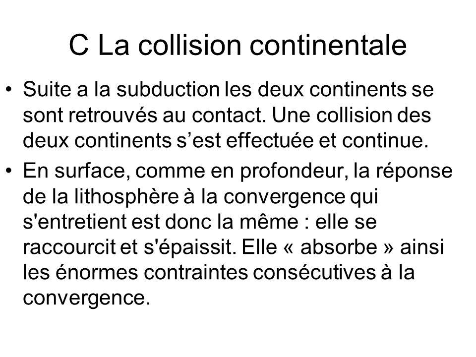 C La collision continentale