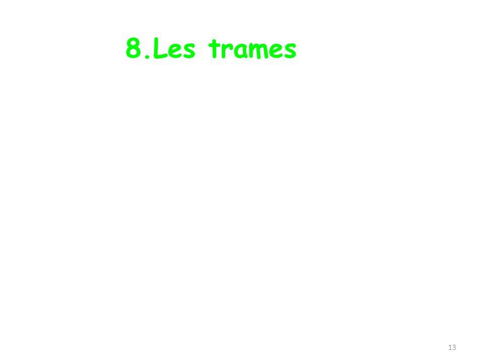 8.Les trames