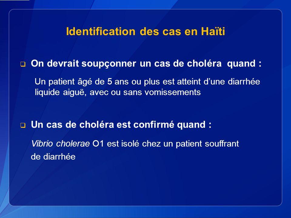 Identification des cas en Haïti