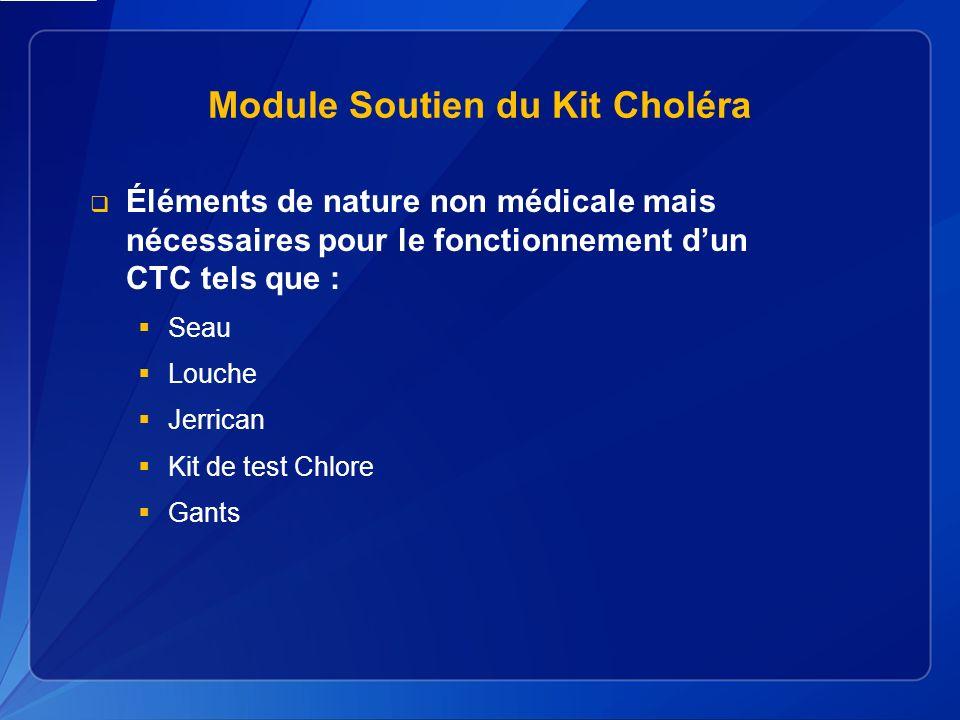Module Soutien du Kit Choléra