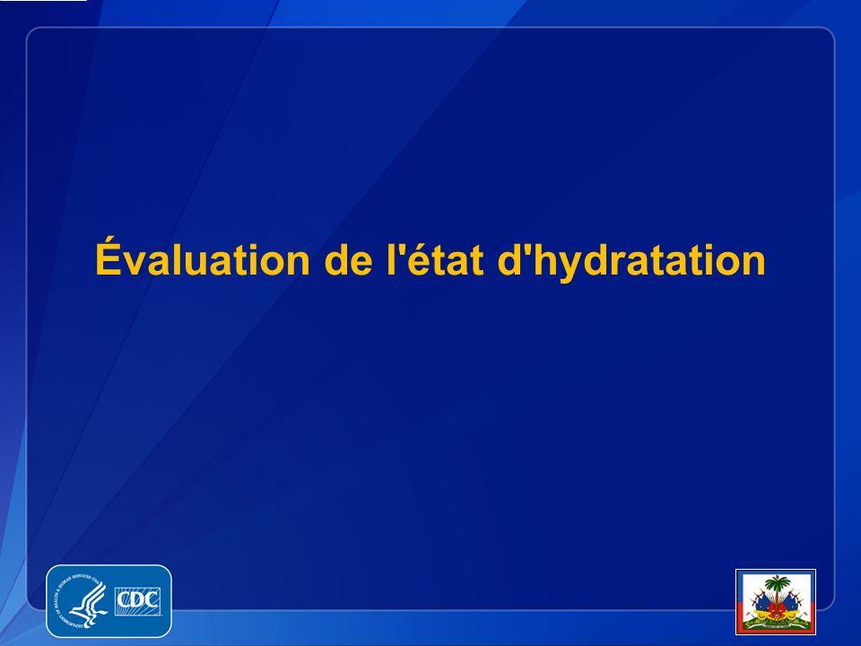 Évaluation de l état d hydratation