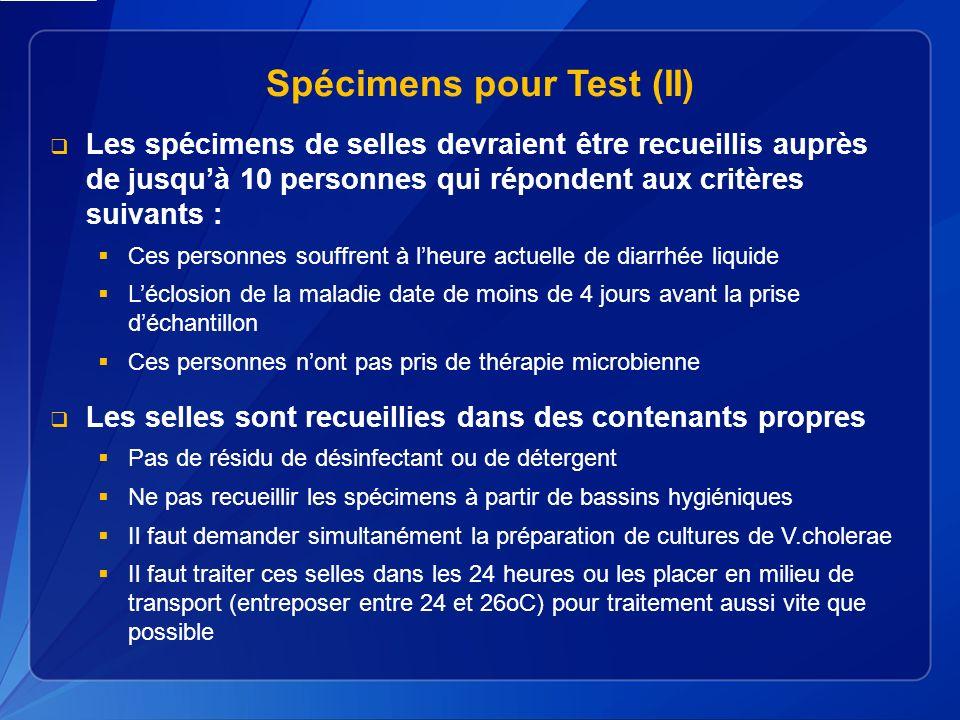 Spécimens pour Test (II)