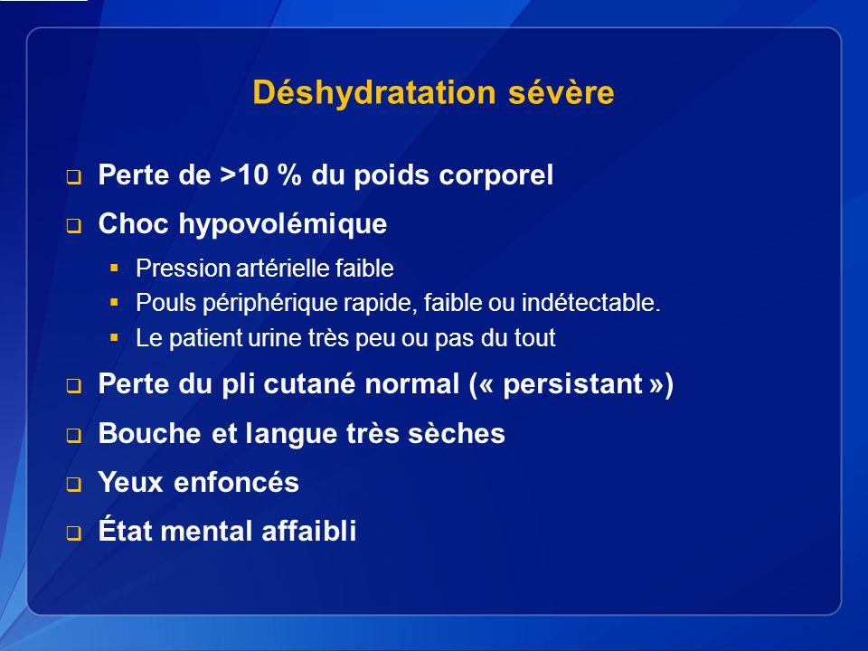 Déshydratation sévère