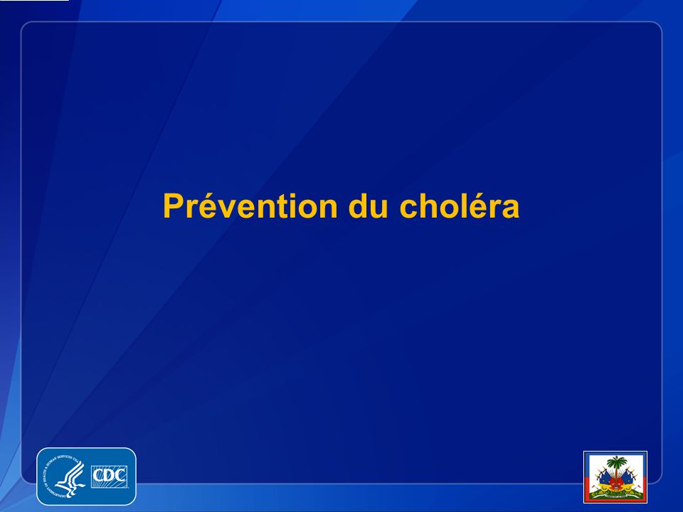 Prévention du choléra
