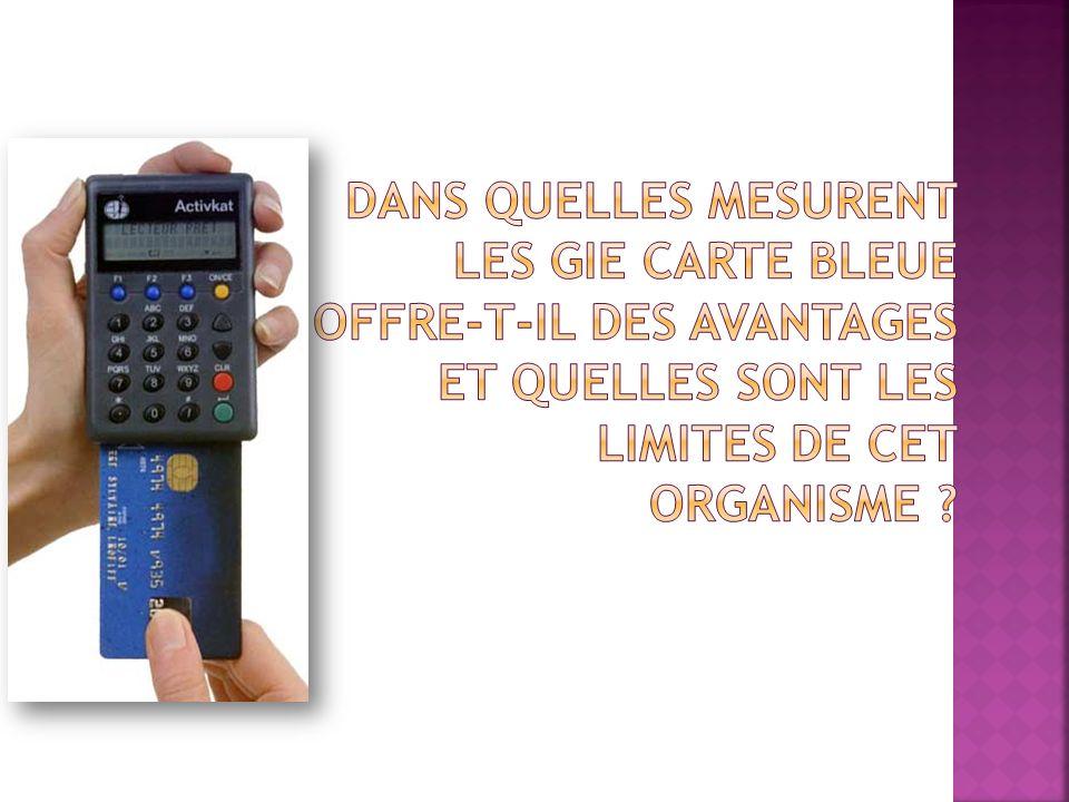 Dans quelles mesurent les GIE carte bleue offre-t-il des avantages et quelles sont les limites de cet organisme
