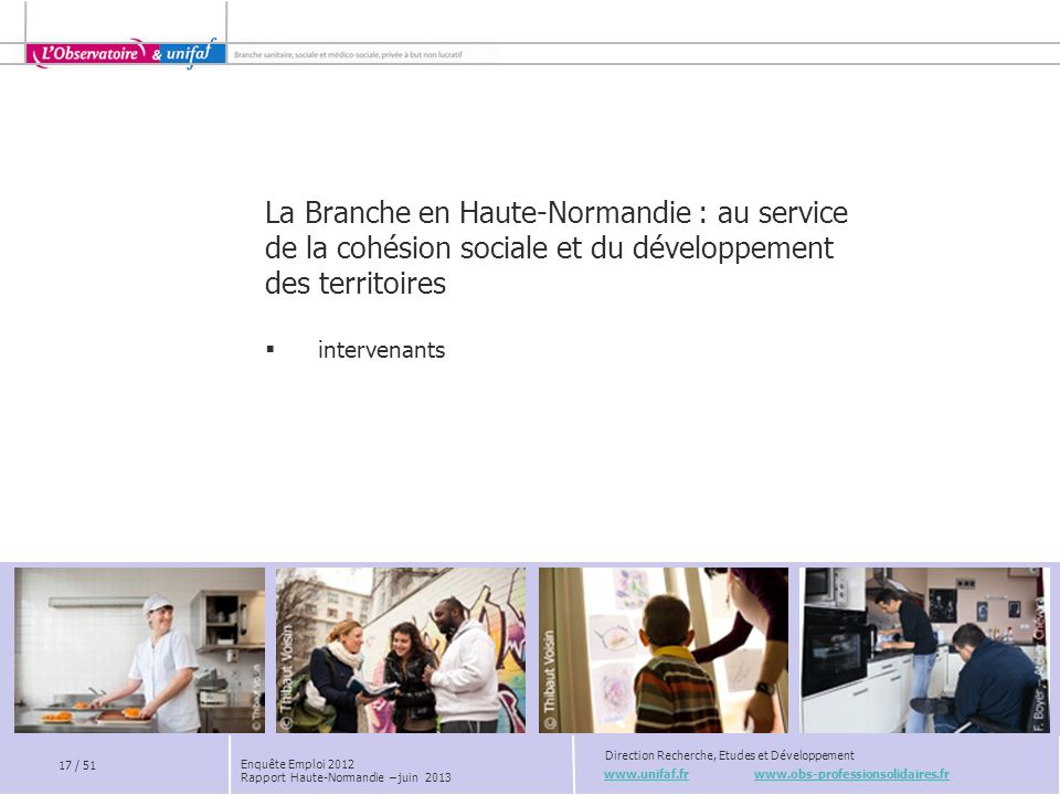 La Branche en Haute-Normandie : au service de la cohésion sociale et du développement des territoires