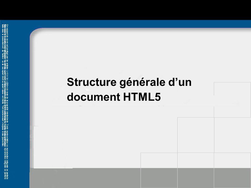Structure générale d'un document HTML5