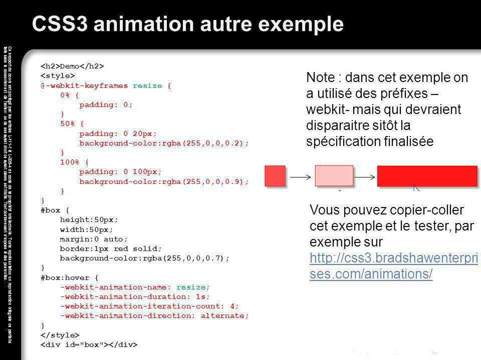 CSS3 animation autre exemple