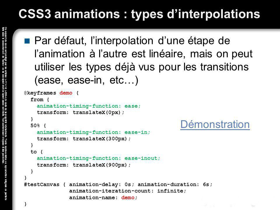 CSS3 animations : types d'interpolations
