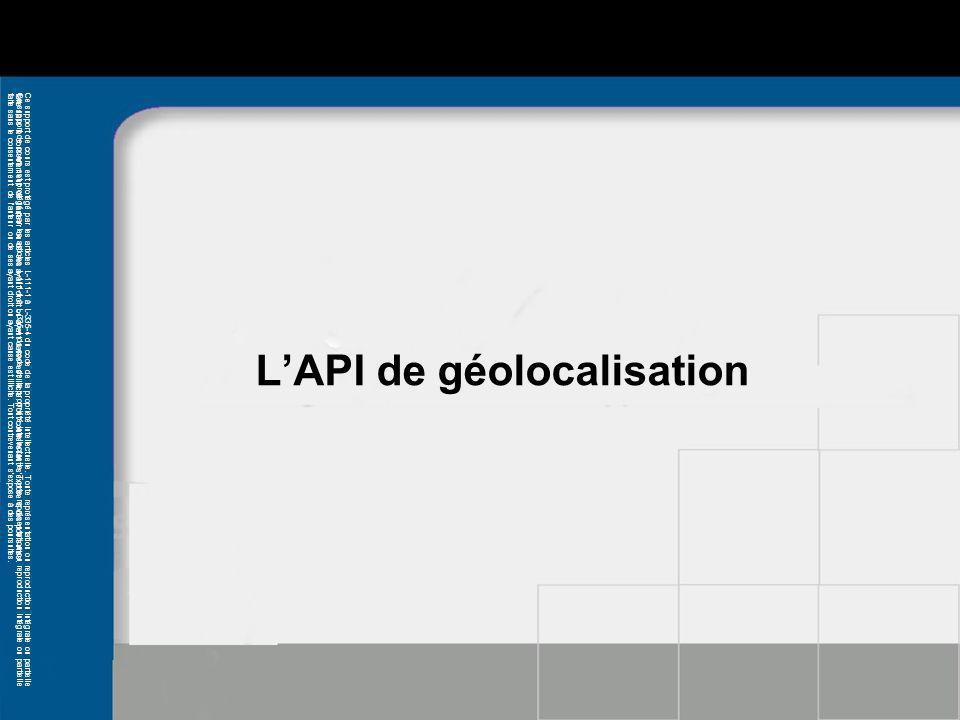 L'API de géolocalisation