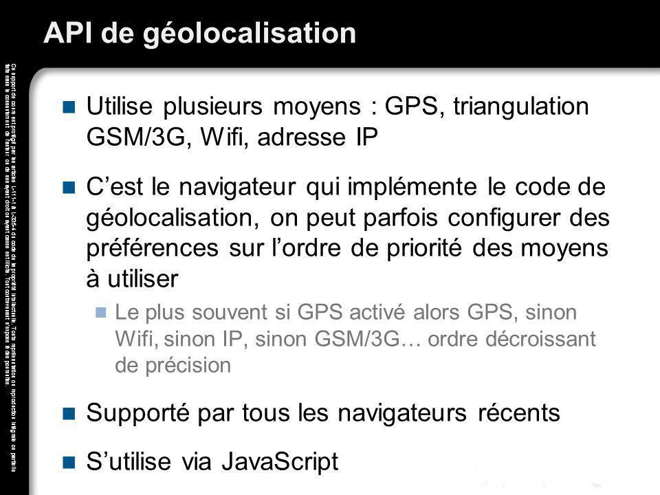 API de géolocalisation