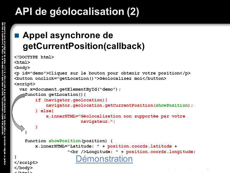 API de géolocalisation (2)