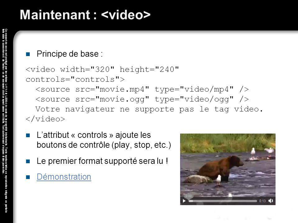 Maintenant : <video>
