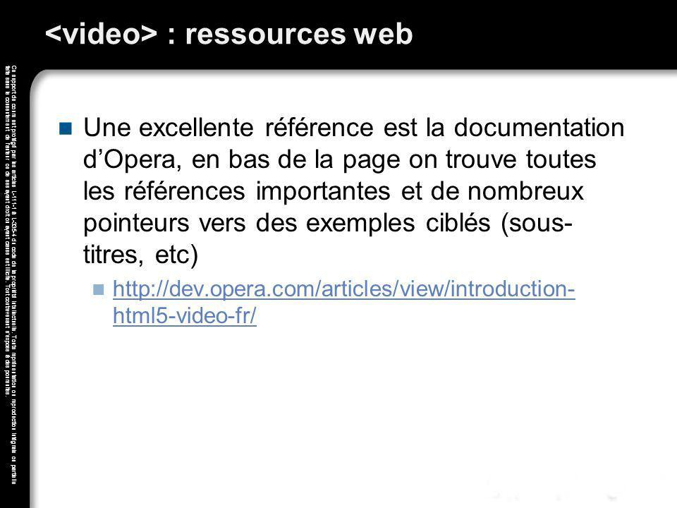 <video> : ressources web