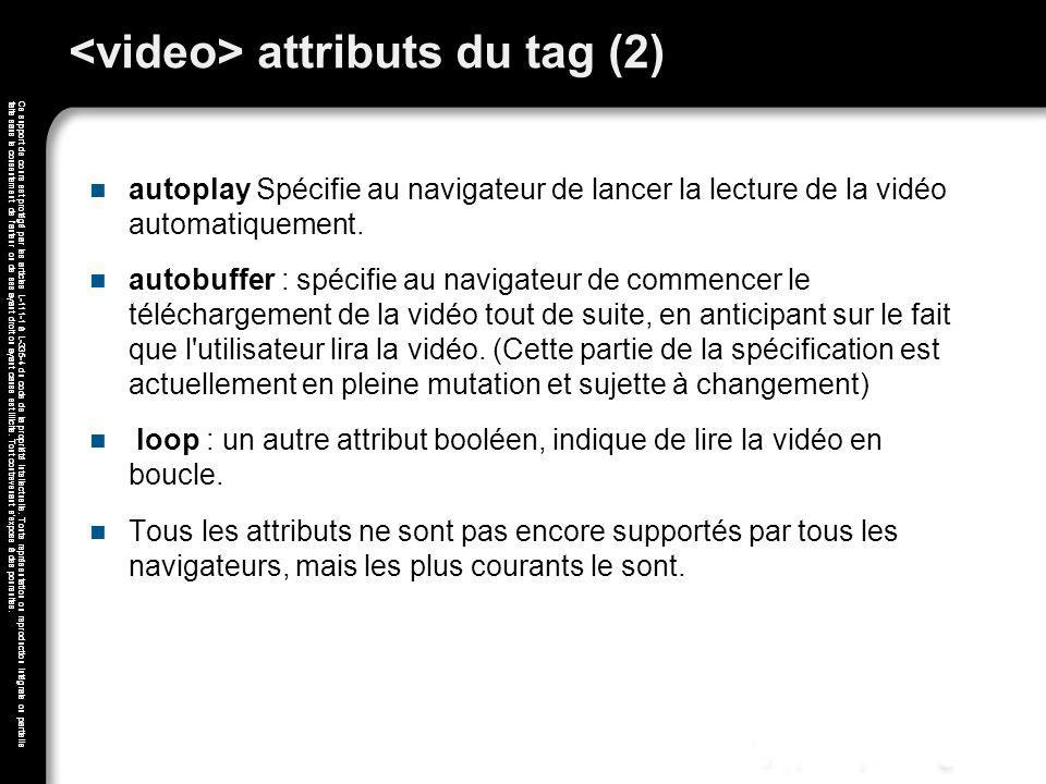 <video> attributs du tag (2)