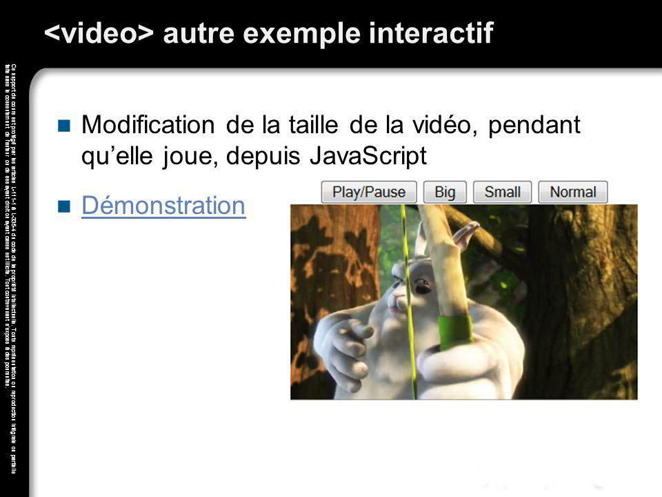 <video> autre exemple interactif