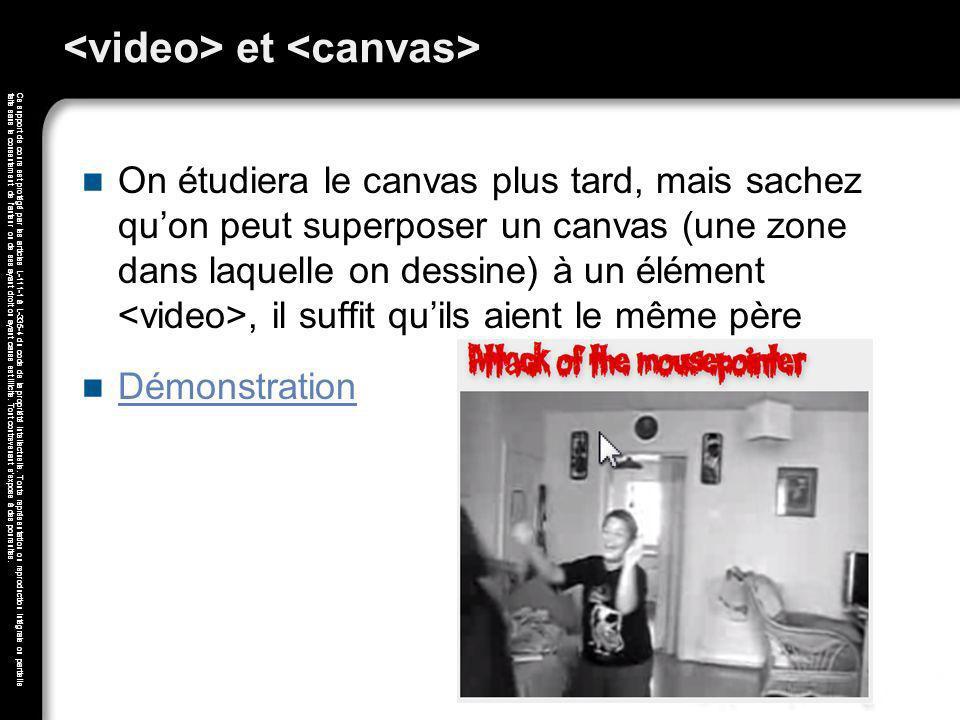 <video> et <canvas>