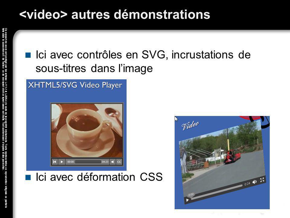 <video> autres démonstrations