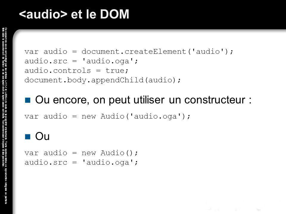 <audio> et le DOM