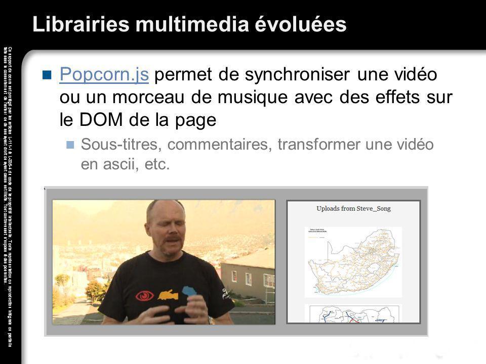 Librairies multimedia évoluées