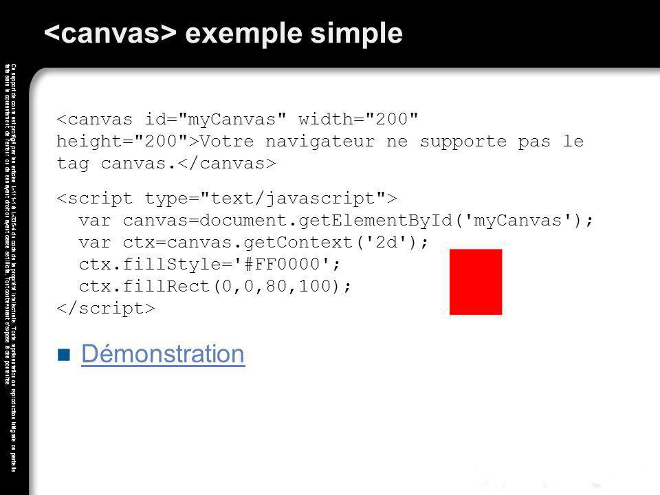 <canvas> exemple simple