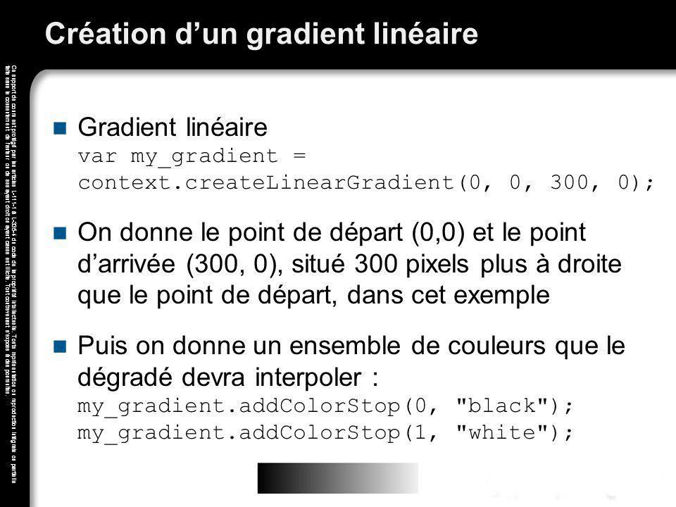 Création d'un gradient linéaire