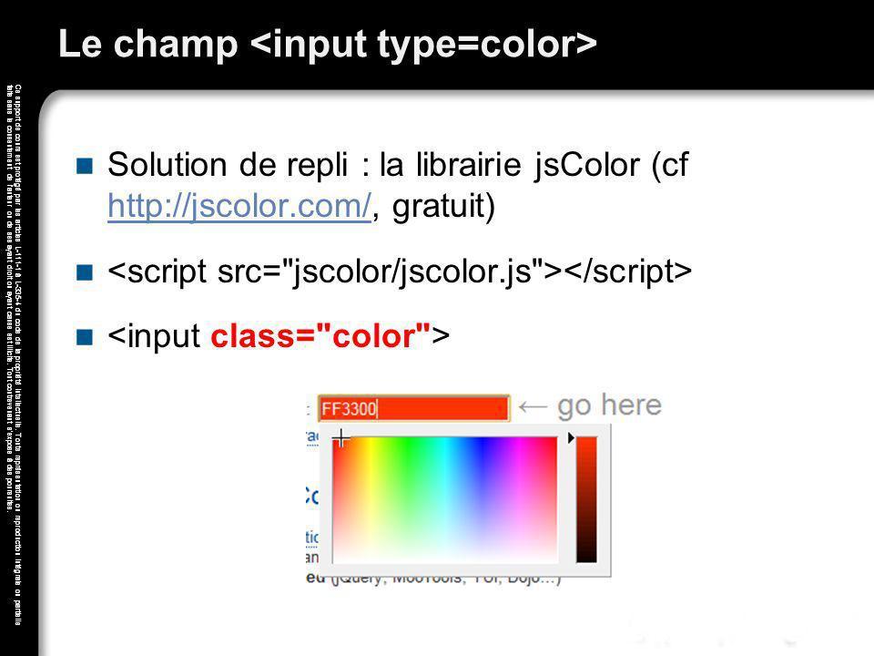 Le champ <input type=color>