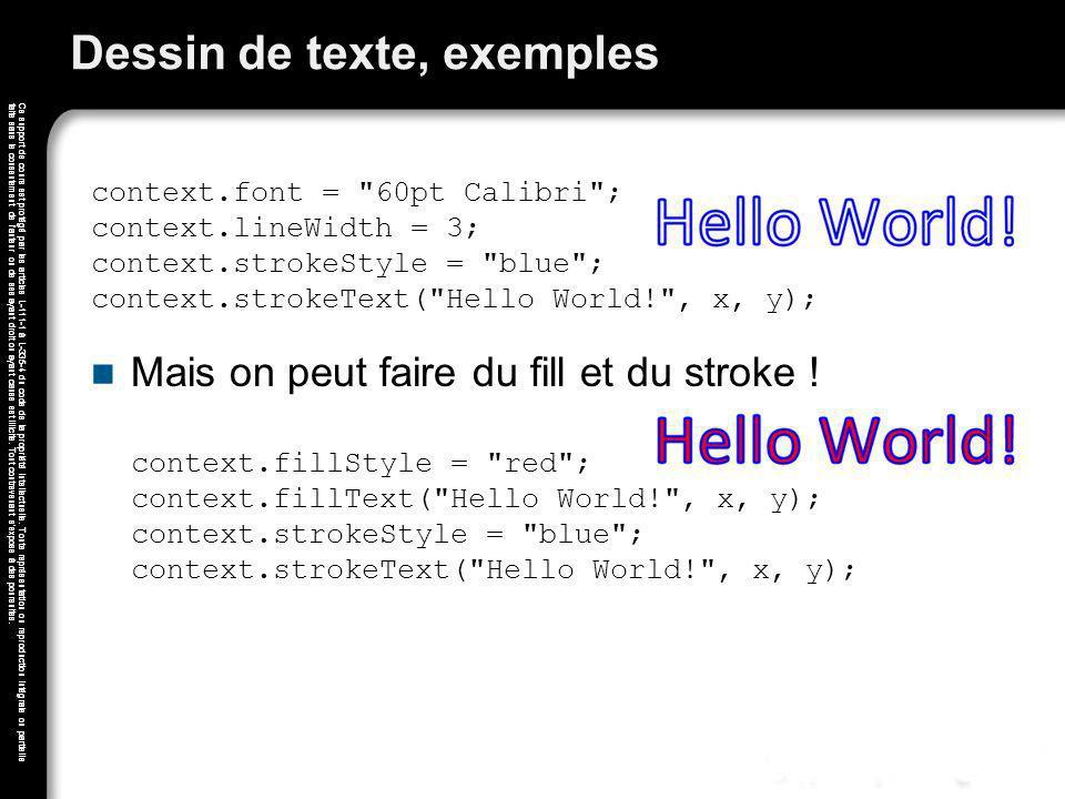 Dessin de texte, exemples