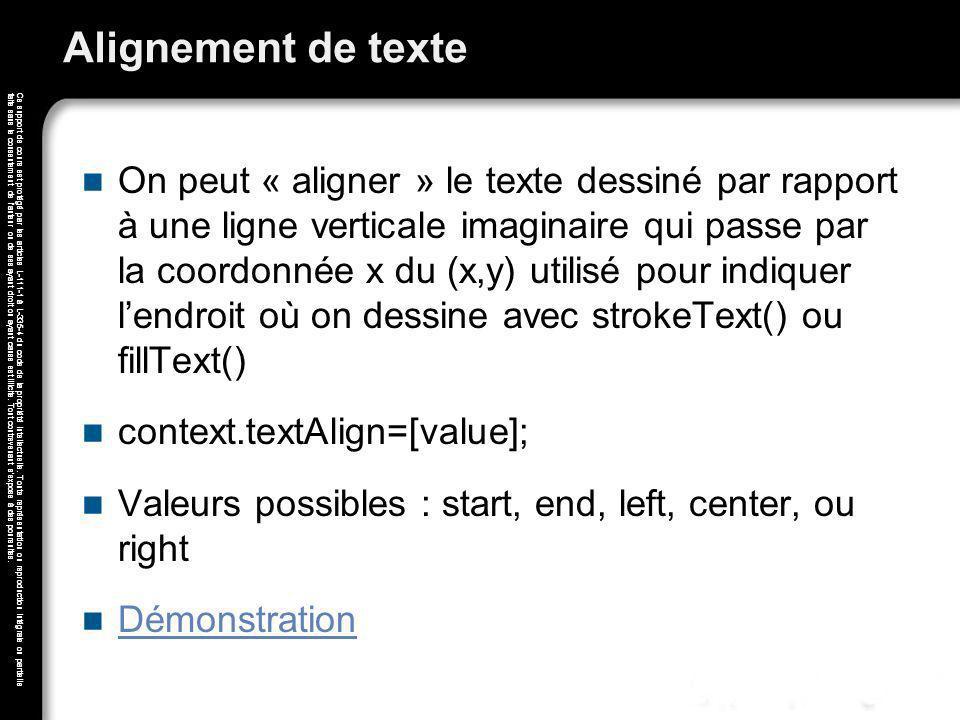 Alignement de texte