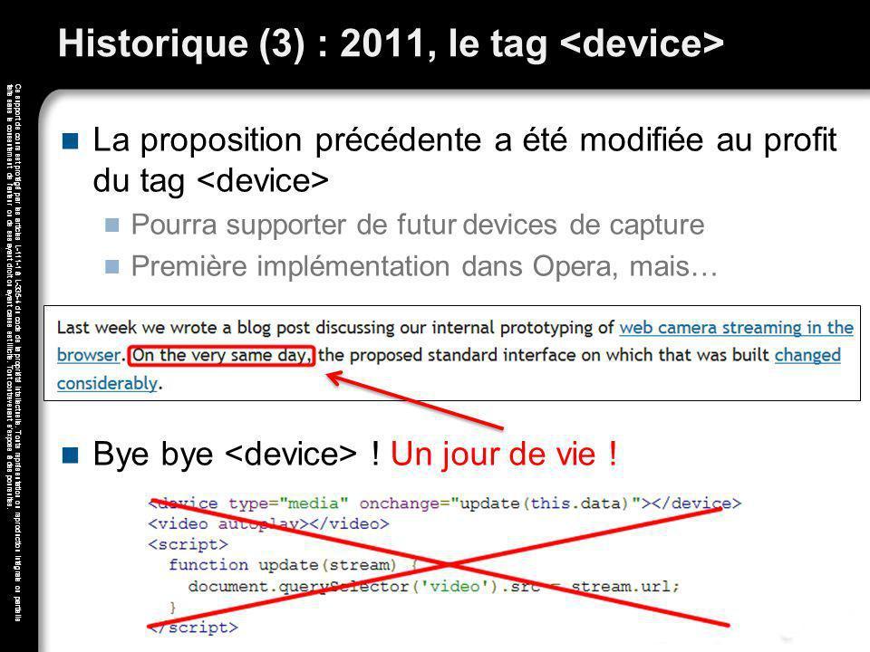 Historique (3) : 2011, le tag <device>